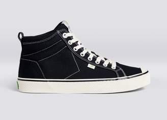 Cariuma OCA High Stripe Black Canvas Contrast Thread Sneaker Men
