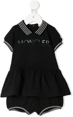 Moncler Enfant Logo Dress & Bloomers Set