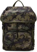 Valentino Green Nylon Camustars Backpack