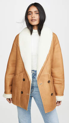 Frame Cocoon Shearling Coat