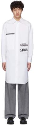 Jil Sander White Printed Flyer Shirt