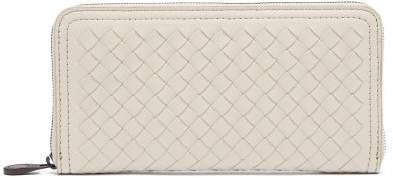 Bottega Veneta Intrecciato Continental Leather Wallet - Womens - Light Grey