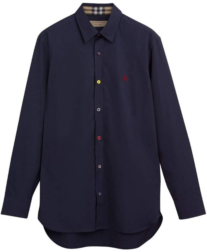 Burberry equestrian embroidered shirt