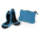 Journee Collection Women's Sidekicks Round Toe Foldable Glitter Ballet Flats