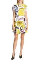 Stella McCartney Horse Print Flounce Hem Dress