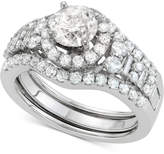 Macy's Diamond Halo Enhancer Bridal Set (2 ct. t.w.) in 14k White Gold