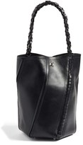 Proenza Schouler 'Medium Hex' Whipstitch Leather Bucket Bag - Black