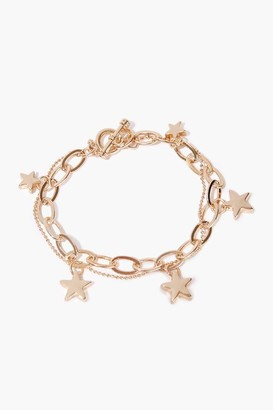 Forever 21 Star Charm Layered Bracelet