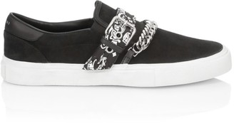 Amiri Bandana Buckle Leather Slip-On Shoes