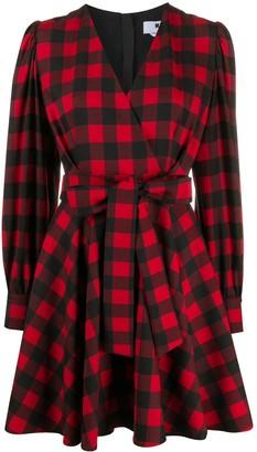 MSGM Check Wrap-Style Dress