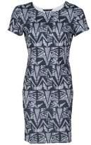 Select Fashion Fashion Womens Grey Aztec Scuba Mini Bodycon Dress - size 6