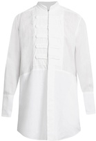 Loewe Plastron Mandarin-collar Linen Shirt