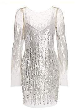 Monique Lhuillier Women's Embellished Tulle Mini Dress