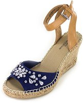 White Mountain Women's Lavish Espadrille Wedge Sandal