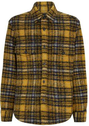 Solid Homme Check Shirt Jacket
