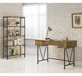 Bronx Chadron Writing Desk with Bookcase Ivy Color: Antique Nutmeg