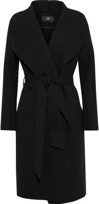 Line Cotton And Wool-blend Wrap Coat