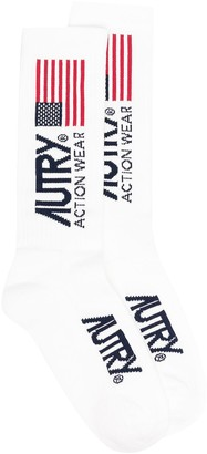 AUTRY American flag intarsia socks