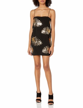 Finders Keepers findersKEEPERS Women's Glimmer Sleeveless Sequin Mini Slip Dress
