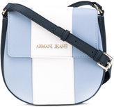 Armani Jeans striped crossbody bag - women - PVC/Polyester - One Size