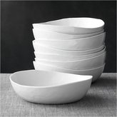"Crate & Barrel Set of 8 Mercer 8"" Low Bowls"