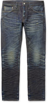Fabric-brand & Co - Jacob Slim-fit Distressed Selvedge Denim Jeans