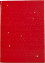 Paul Smith Red Saffiano Leather Alphabet Notebook