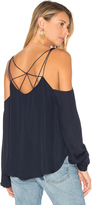 Haute Hippie Crossroads Cold Shoulder Blouse