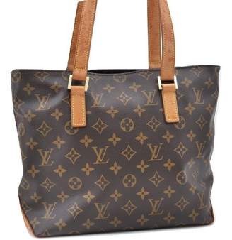 Louis Vuitton Brown Cloth Handbags