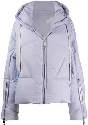 KHRISJOY Panelled Hooded Puffer Jacket