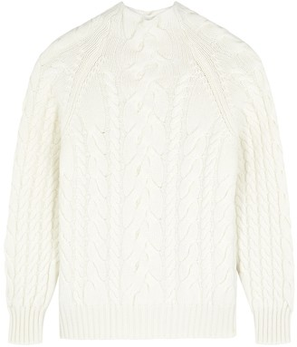 Hawico Viramas White Cable-knit Cashmere Jumper