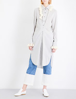 Loewe Pom-pom silk shirt dress