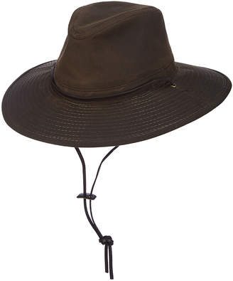 Dpc DPC Men's Fedoras BROWN - Brown Oil-Cloth Brim Safari Sunhat