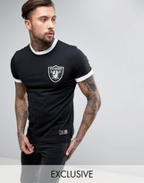 Majestic Raiders Longline Ringer T-shirt Exclusive To Asos