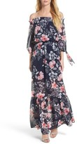 Vince Camuto Women's Off The Shoulder Chiffon Maxi Dress