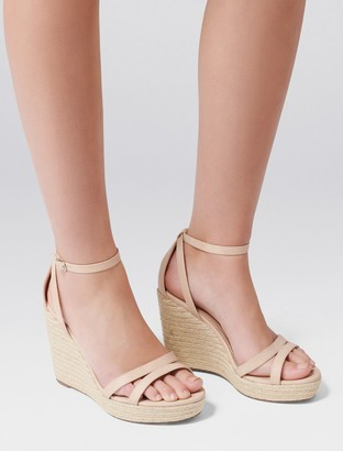 Forever New Ruby Espadrille Wedges - Nude - 40