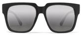 Quay On The Prowl Sunglasses in Black/Silver Mirror