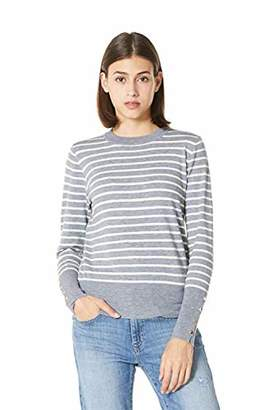 Plumberry Womens Pullover Sweater Striped Casual Soft Long Sleeve Loose Shirts