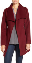 Tahari &Ella& Belted Double Face Wool Blend Wrap Coat (Petite)