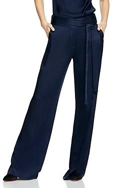 Halston Flowing Wide-Leg Pants