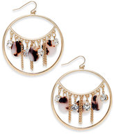 Thalia Sodi Gold-Tone Disc & Chains Drop Hoop Earrings, Only at Macy's