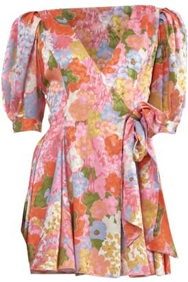 Ronny Kobo Anna Primrose Puff Sleeve Mini Dress