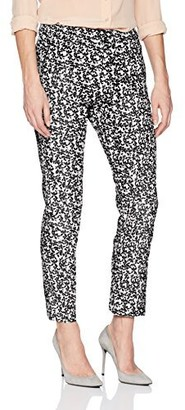 Adrianna Papell Women's Printed Kate Fir Bi Stretch Pant