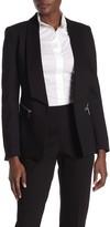 T Tahari Open Front Pocket Zip Jacket