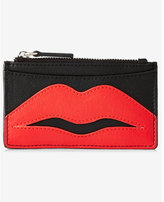 Express lip graphic credit card holder