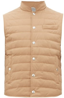 Brunello Cucinelli Quilted Down Shell Gilet - Mens - Brown