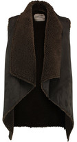 Velvet by Graham & Spencer Faux Shearling And Suede Gilet