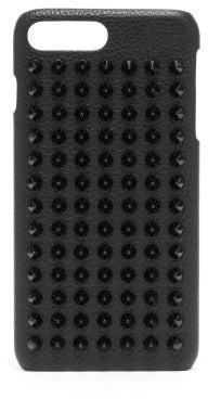 Christian Louboutin Loubiphone Spike Leather Iphone 8+ Case - Mens - Black