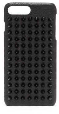 Christian Louboutin Loubiphone Spike Leather Iphone 8+ Case - Mens - Black