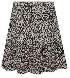 Dorothy Perkins Womens Cream Animal Print Crepe Mini Skirt, Cream